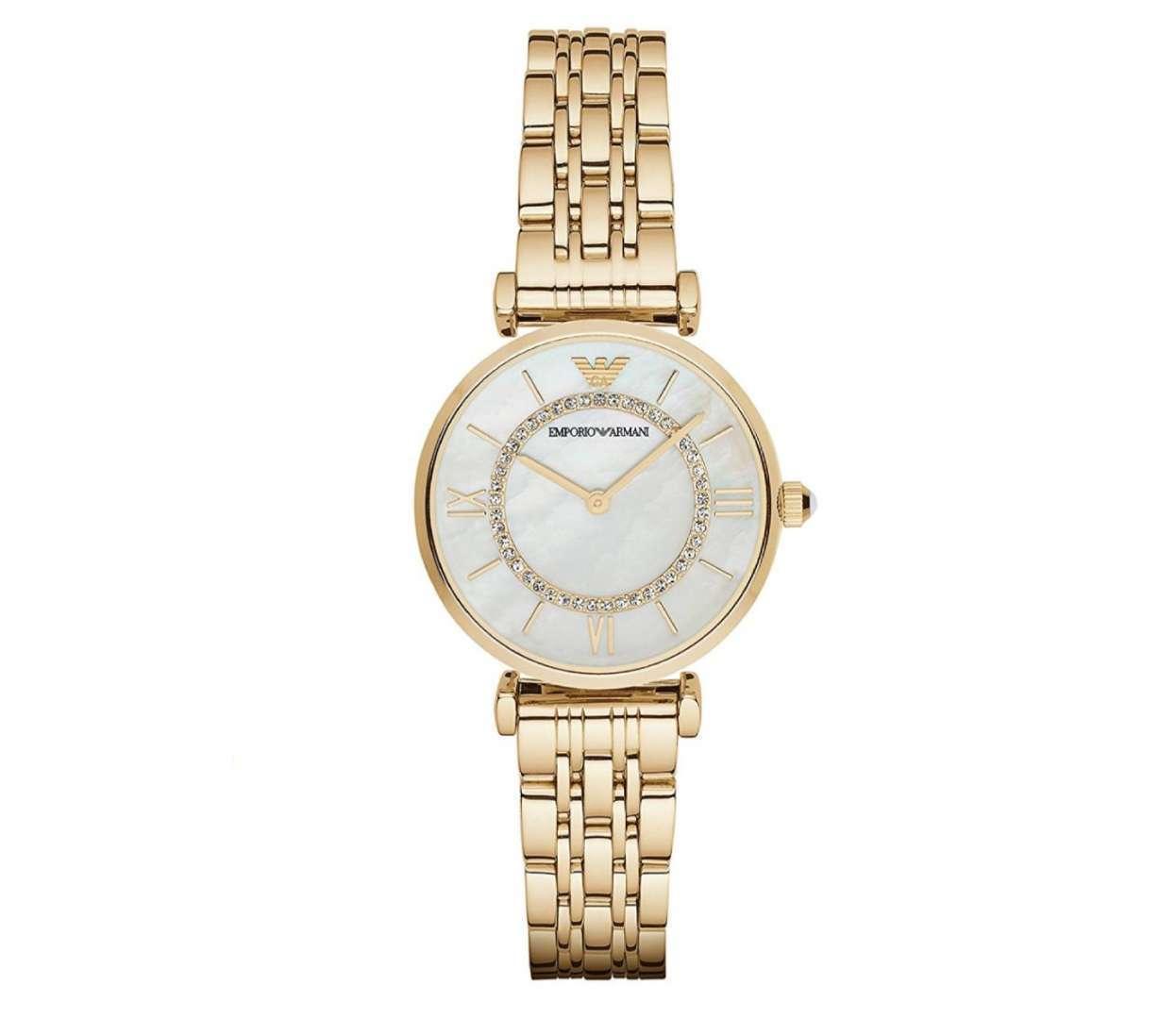 שעון יד אנלוגי לאישה emporio armani ar1907 אמפוריו ארמני